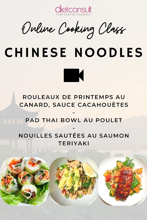 ONLINE COOKING CLASS  - Chinese noodles (3 recettes et 3 vidéos pas à pas)