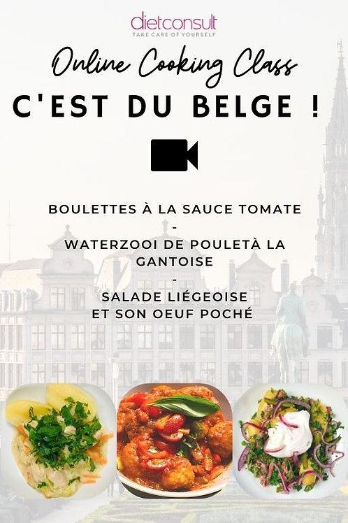 ONLINE COOKING CLASS  - C'est du belge ! (3 recettes et 3 vidéos pas à