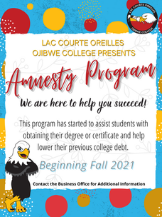 Lac Courte Oreilles Ojibwe College Student Account Amnesty Program