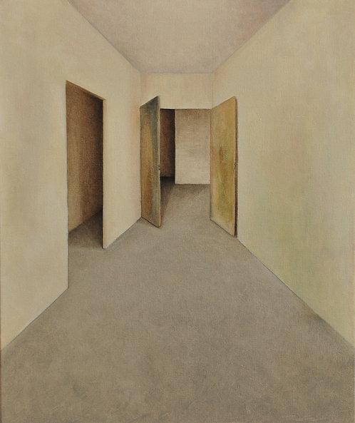 Hallway with Two Doors