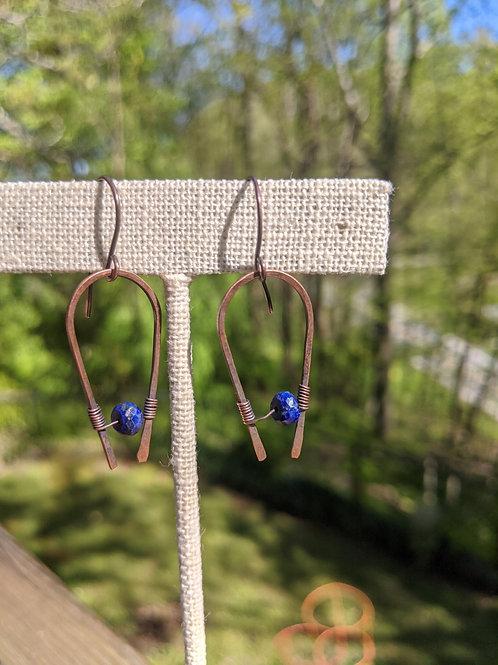 Copper horseshoe: lapis lazuli