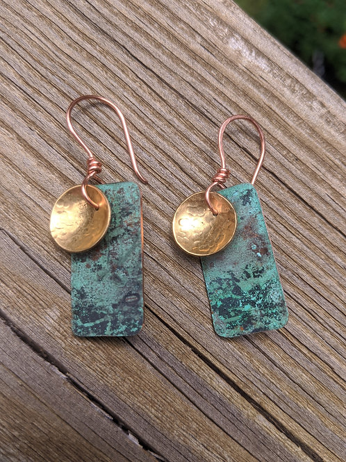 Verdigris earrings