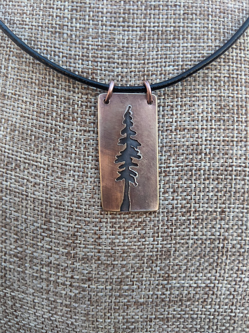Lone pine: intaglio, mixed metal