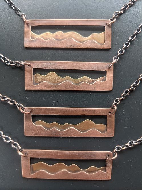 Blueridge mtns: copper and brass
