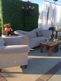 Lounge furniture on the Courtyard