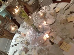 Romantic ivory shimmer decor