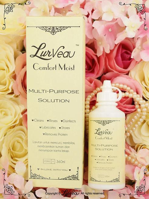 Lurveau Multi Purpose Solution contact lens malaysia