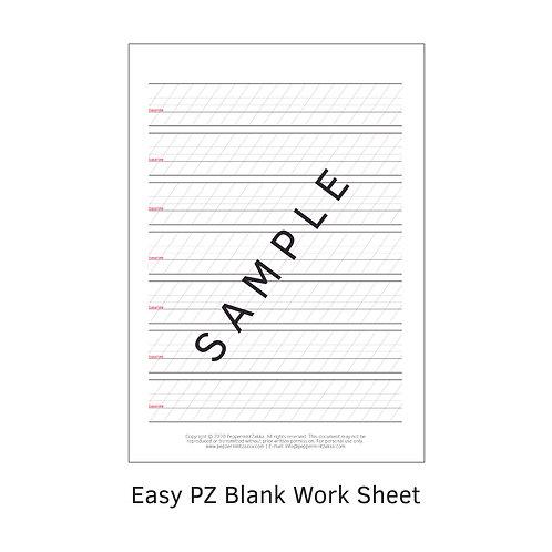 Easy PZ Blank Work Sheet
