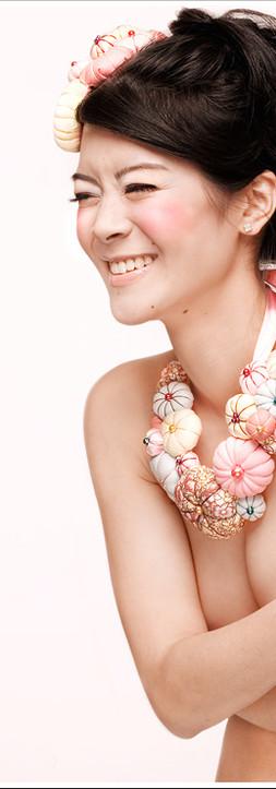 Bijoux tissus façon fleurs
