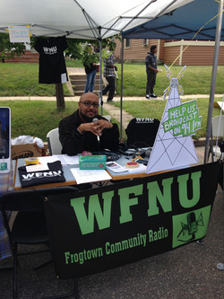 Reppin' WFNU at the Selby Jazz Fest
