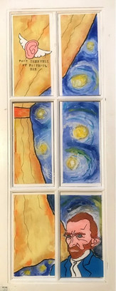 Vincent in the window