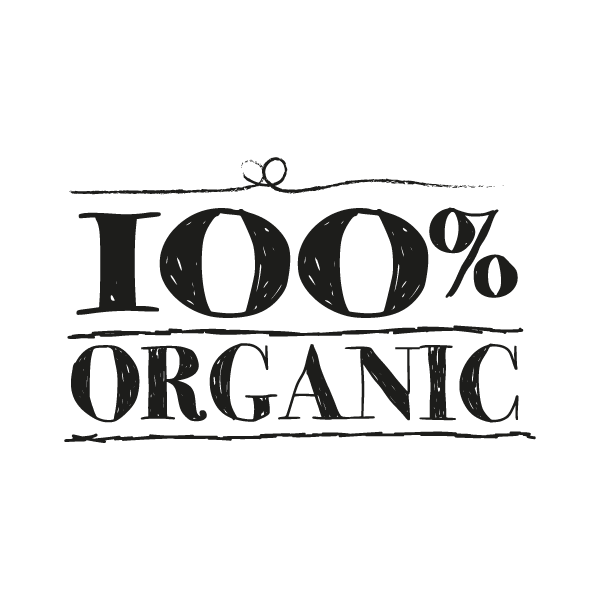 100% organic sign