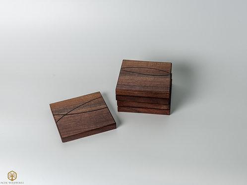 Walnut and Wenge Puzzle Coasters