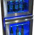 2 Laden Kühltheke mit Umluftkühlung Beleuchtung und Glas