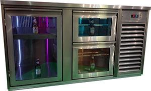 Kühltheke Glasladen Beleuchtet Getränke Einschiebkühlpult