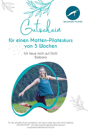Pilates Matten Kurs 5 Wochen