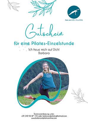 Gutschein Pilates Einzelstunde
