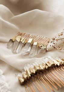 Bijoux de cheveux bohème en quartz