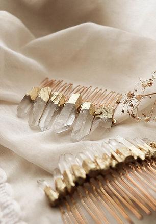Accessoire bohème mariage quartz