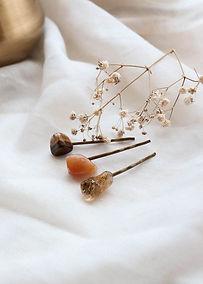 Pinces à cheveux en pierres naturelles
