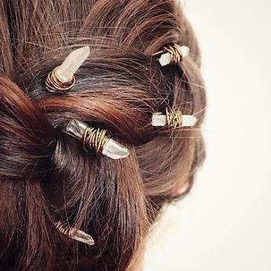 Accessoires cheveux en pierres naturelles