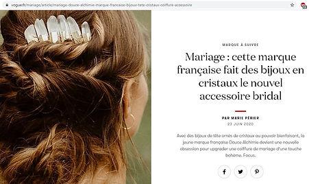 Vogue accessoire mariage