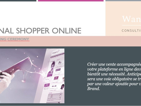 "Programme de Formation "" Personal Shopper Online: la Web Selling Ceremony"""