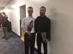 With Cellist Roland Gjernes