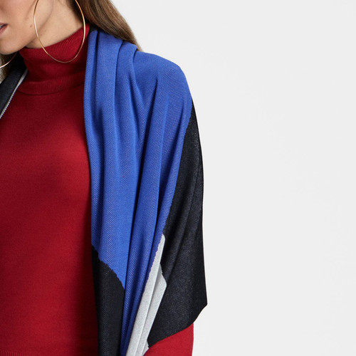 405662a0e Xale em tricot 3 cores - Viviane Furrier