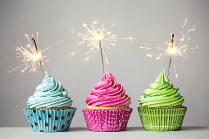 Cupcakes mit Kerzen