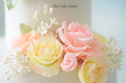 Pastel Flower Wedding Cake - Close up of Handmade Flowers 2_edited