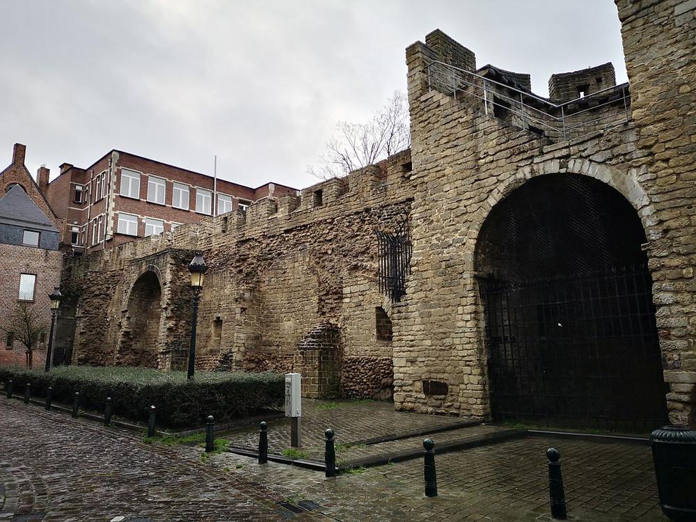 Stadsmuur uit de 11de eeuw Brussel