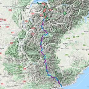 GR5 Traversée des Alpes - Kaart