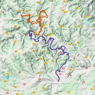 Escapardenne Lee Trail - Kaart