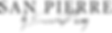 O majestoso logo da San Pierre, marca voltada ao streetwear moderno. Assinatura do seu fundador.