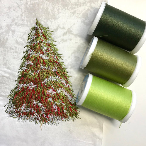 Coats Yellow-Green Coordinated Thread Pack
