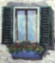 Old World Fabric Window