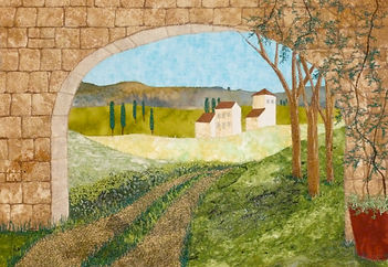 From photo to landscape fiber art