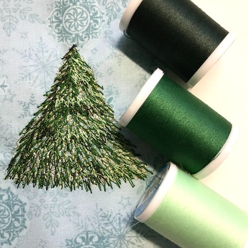 Blue Green Coordinated Thread Pack
