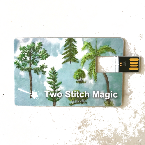 Thread Sketching Flash Drive w/Album
