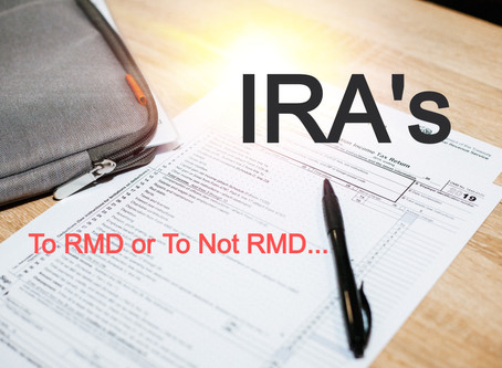 To RMD or not to RMD, that is the question.