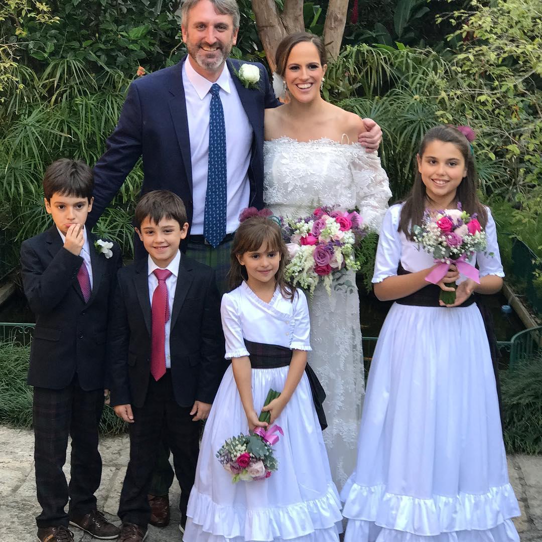 Francisca, Michael e os filhos