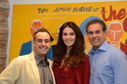 Carlos Contente, Lisandra Souto e Gustavo Fernandes