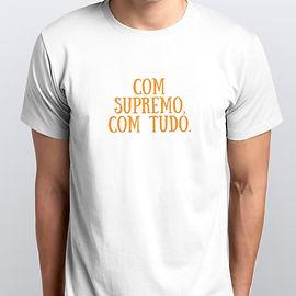 Camiseta Masculina Com Supremo Com Tudo