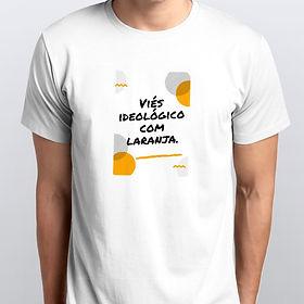 Camiseta Masculina Viés Ideológico com Laranja