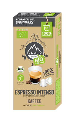 Kopie von LaNatura® BIO ESPRESSO INTENSO Nespresso* Kapseln 10 Stück