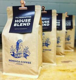 our popular filter coffee.  H O U S E. B