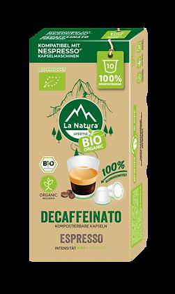 LaNatura® BIO ESPRESSO KOFFEINFREI Nespresso* Kapseln 10 Stück