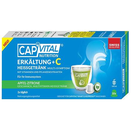 CAPVITAL® ERKÄLTUNG +C Multivitamin Heissgetränk - NESPRESSO® kompatibel