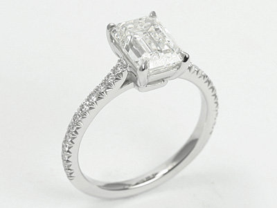 Micro Pave Solitare Ring